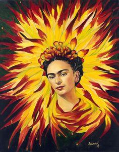 Frida Kahlo ~ Fiery Dahlia of Mexico ~ Oksana Gruszka- Harmouche (born: Ternopil, Ukraine).