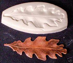 OAK LEAF large ~ CNS polymer clay mini mold
