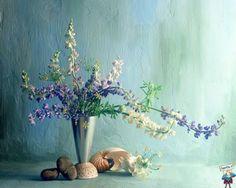 I fiori fluttuano come in un fondo marino
