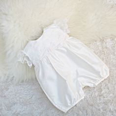 5fe9c7e836ab 9 Best christening rompers for girls images