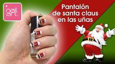 Uñas con el pantalón de Santa Claus/ Nail pants from Santa Claus
