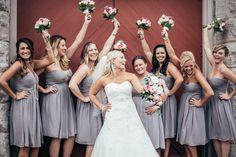 Women United behind their bride! We love it! #bride #bridesmaid #wedding #nashville Nashvillewedding #cellar1 #TheKnot