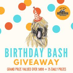 Enter the Birthday Bash giveaway from Redbarn Pet Products for the chance to win daily prizes or a grand prize pack!