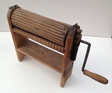 Antique Clothing Ringer - c.1870, Maine - All Wood Rollers - Very Rare Item
