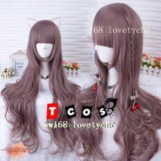 HOT!【 TCOS  lolita wig /daily Harajuku style taro purple/ Nature /wavy hair wig】