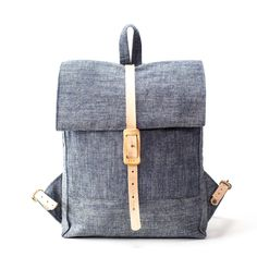 The Rolltop Backpack | Chambray