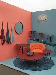 Stand Design, Booth Design, Wall Design, House Design, Design Küchen, Design Trends, Furniture Showroom, Furniture Design, Living Room Decor