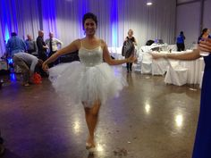 The perfect outfit for the bride at the wedding reception! I made this FABULOUS no-sew tutu for my FABULOUS bridal shower and changed into it at my wedding right before the reception ended!