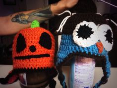 Crochet owl beanie and pumkin