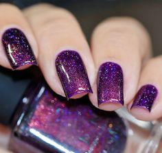 Nail Art Designs, Purple Nail Designs, Square Nail Designs, Short Nail Designs, Nails Design, Nail Art Violet, Purple Nail Art, Pink Ombre Nails, Purple Glitter