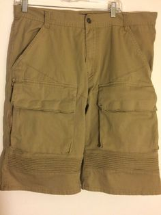 7f176f97aa New! Decibel Men's Size 36 Brown Cargo Shorts Multi-Pocket Short Cotton  Pants #