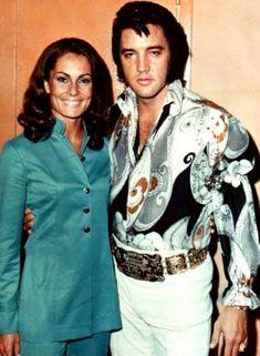 Elvis Backstage in Las Vegas with Israeli actress Nurit Zeevi sometime during August 1972