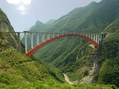 Seven of the top ten steel arch bridges are in China.  Check out the complete list.