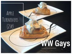 Who knew that dough could make an apple turnover! Ww Desserts, Weight Watchers Desserts, Healthy Desserts, Apple Turnovers, Juice Of One Lemon, Sugar Free Syrup, Dough Recipe, Cinnamon Apples, Sweet Tooth