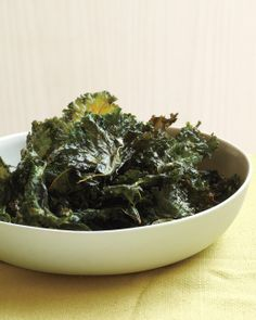 Chili-Sauce Kale Chips. Going to make these with my west indies hot sauce for a little caribbean kick