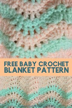The Quick and Easy Free Baby Crochet Blanket Pattern baby pattern crochetpattern freecrochet babyblanket 1 Quick and Easy Free Baby Blanket Crochet Pattern For New Arrival Crochet Blanket Tutorial, Afghan Crochet Patterns, Baby Patterns, Knitting Patterns, Crochet Stitches, Crotchet Patterns, Crocheting Patterns, Crochet Baby Cardigan, Baby Blanket Crochet