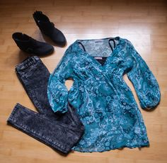 boho outfit #boho #leather #turquoise #outfit #evasplace