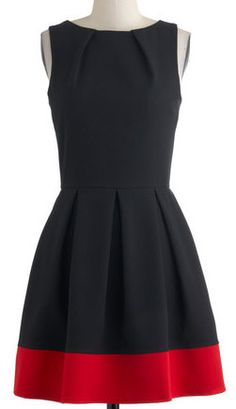 Luck Be a Lady Dress in Black and Red