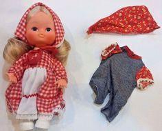 """Vintage HONG KONG 9"""" Baby Doll w/2 Outfit LOT/SET EUC MINT COND asl = I LOVE YOU #HongKong"""