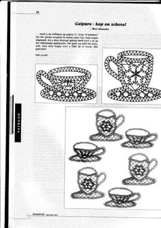 Serviesje - Yvonne M - Веб-альбомы Picasa Bobbin Lace Patterns, Simple Art, Easy Art, Lace Making, String Art, Free Pattern, Album, Sewing, How To Make