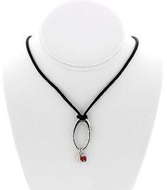 Aaron Basha 18k White Gold Enamel Bug Necklace - http://designerjewelrygalleria.com/aaron-basha/aaron-basha-18k-white-gold-enamel-bug-necklace/