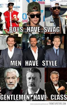 if you have swag go back to school son and get some class