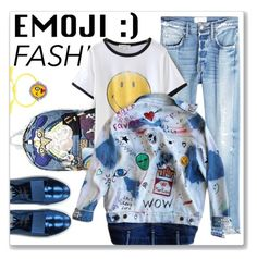 """""""Wink, Wink: Emoji Fashion"""" by emavera ❤ liked on Polyvore featuring Marc Jacobs, Frame and Acne Studios"""