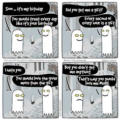 Web comic Happy birthday to me and you
