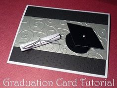 Handmade graduation card tutorial for whenever my family members are graduating :)
