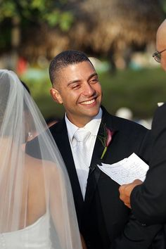The happy groom at his wedding ceremony   Photography by Kenny Kim