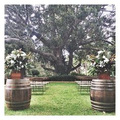 Brisbane wedding ceremony set up by The Parlour Events.