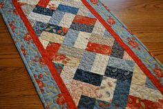 Prairie Paisley Patchwork Tablerunner by cachecreekquilts on Etsy