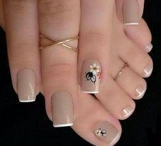 Cute Toe Nails, Cute Toes, Pretty Nails, Toe Designs, Nail Art Designs, Painted Toes, Nail Set, Flower Nails, Creative Nails