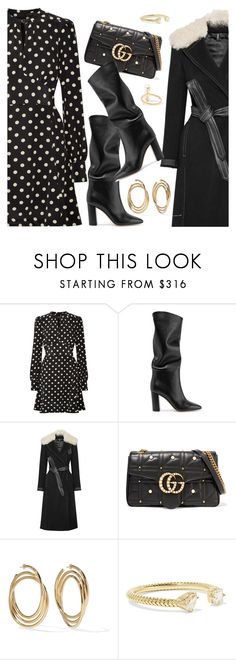 Outfit of the day by dressedbyrose on Polyvore featuring Marc Jacobs, Helmut Lang, Gianvito Rossi, Gucci, Jemma Wynne, Anissa Kermiche, ootd and polyvoreeditorial