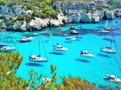 Menorca, Spain. Looks like the boats are flying. (imgur.com)