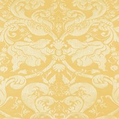 Gavotte Brocatelle | 22552 in Gold | Schumacher Fabric