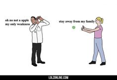 An apple a day keeps the doctor away#funny #lol #lolzonline