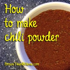 Did you know there's a difference between chile powder and chili powder? Apparently this is something that every Californian knew except me. Ahem.