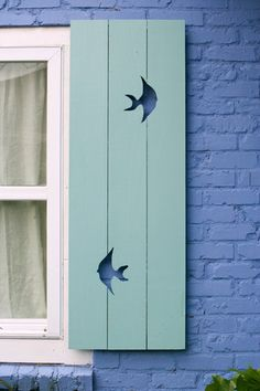 Jane Coslick Cottage Collection - Fish Out Of Water Shutter