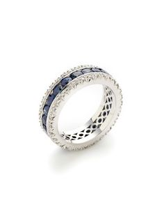 Channel Set Sapphire & Diamond Ring by Favero on Gilt.com