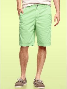 Gap lightweight garment dye shorts, endive.