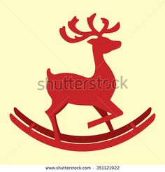 illustration of deer - stock vector