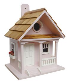 Loving this Cotton Candy Cottage Birdhouse on #zulily! #zulilyfinds
