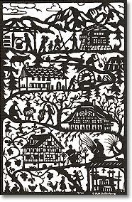 Pays d' Enhaut Scherenschnitt ( papercut ) Paper Cutting, Cut Paper, Kirigami, Paper Art, Paper Crafts, Rustic Pictures, Scandinavian Folk Art, Visual Diary, Silhouette Art