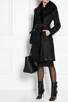 Shearling coats remind me of Ugg boots for your body. Regardless of how you feel about Uggs, they are warm. I've got both eyes peeled for a reasonably priced knock off of this Burberry coat. It's proof positive that one does not need to sacrifice style for warmth.