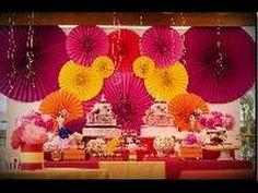 Decoração para festa. Leque circular. - Decoration party. Circular Fan.