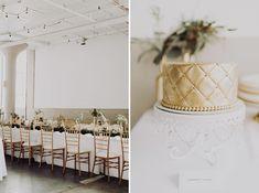 DIY Great Gatsby Wedding gold wedding cake  and golden wedding chairs