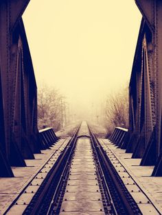by Soty Soták on Railroad Tracks, Trains, Art Photography, Bridge, Black And White, Photos, Fine Art Photography, Pictures, Black N White