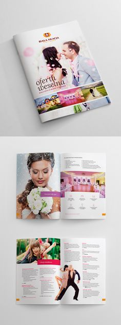 Wedding catalogue for Biała Akacja Resort & Business (Poland) Graphic Projects, Branding, Concept, Poland, Layouts, Poster, Wedding, Business, Valentines Day Weddings