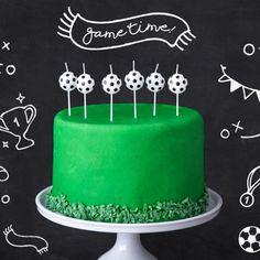 Fussballparty Geburtstagskerzen, 6 Stück Happy Birthday, Birthday Cake, Sports Party, Cupcakes, Decoration, Party Themes, Desserts, Minecraft, Food